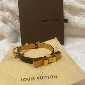 Authentic Louis Vuitton dog collar